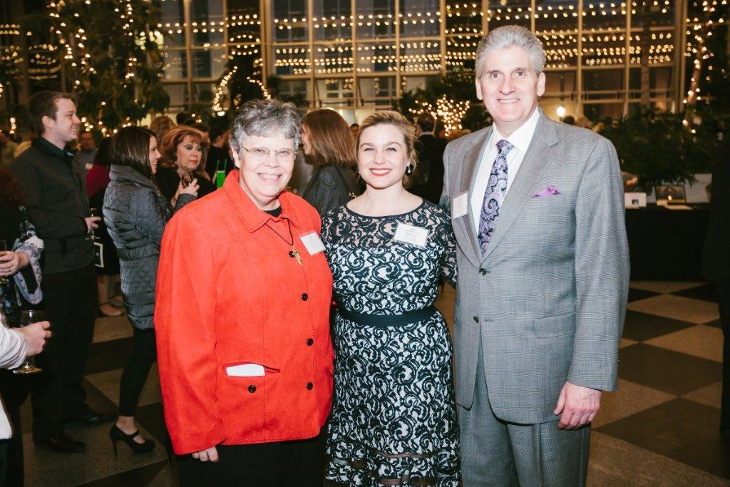 Crushed Grapes 2014 - Sr. Mary Parks, CSJ with event co-chairs, Meg Gleason and Robert Barth, Jr.