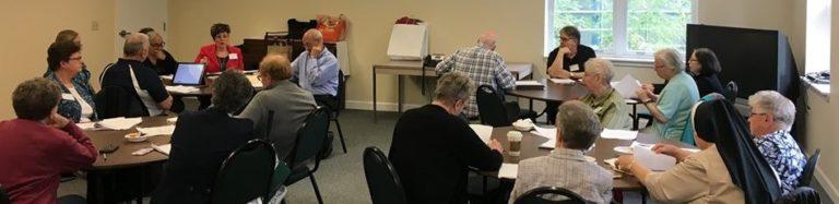 a board meeting in progress
