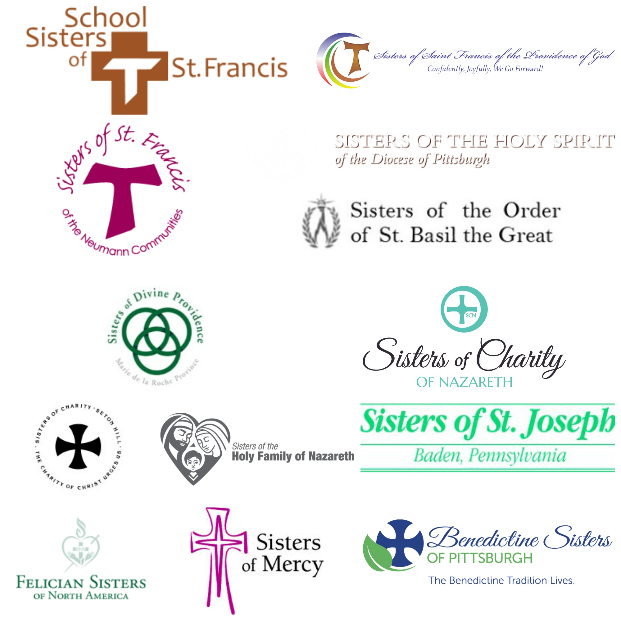 Collection of logos for various founding organizations