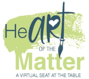 Heart of the matter, a virtual seat at the table - logo