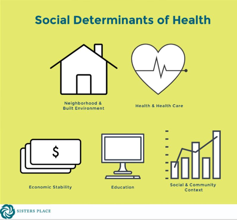 Sociall determinants of health graphic