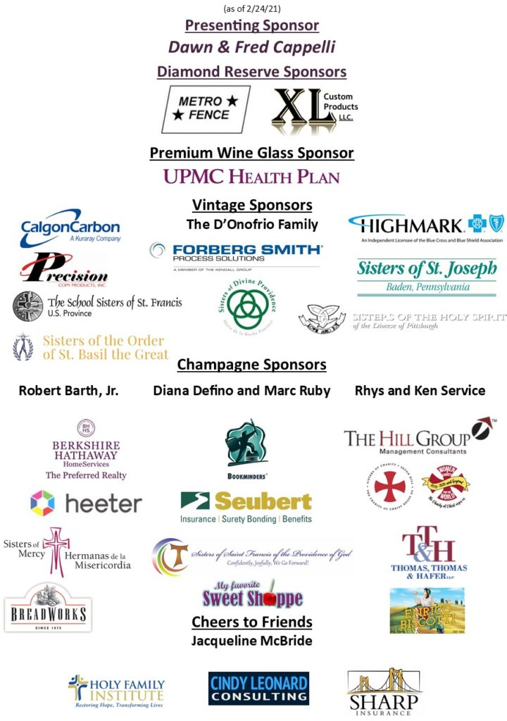 A compilation of logos of the Crushed Grapes 2021 sponsors