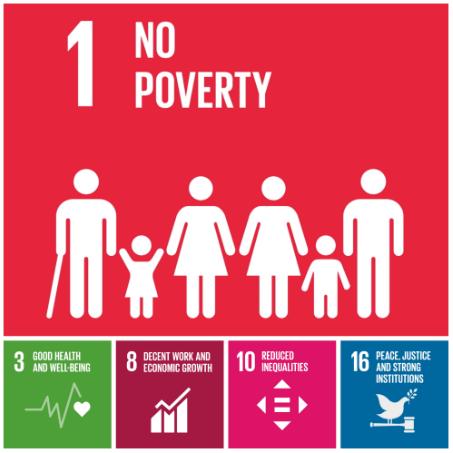 Goal 1 - no poverty graphic